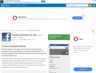 facebook-desktop-for-air.softonic.it screenshot