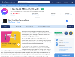 facebook-messenger.software.informer.com screenshot