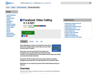 facebook-video-calling.updatestar.com screenshot