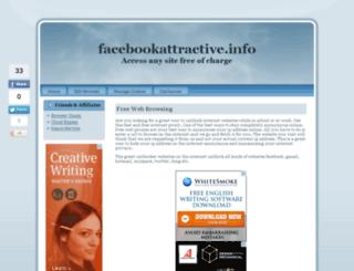 facebookattractive.info screenshot
