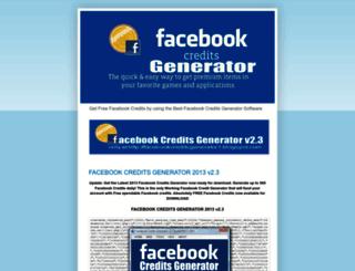 facebookcreditsgenerator1.blogspot.com screenshot