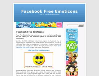 facebookfreeemoticons.com screenshot