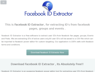 facebookidextractor.org screenshot