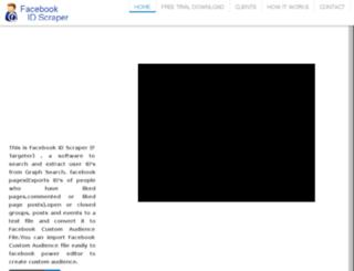 facebookidscraper.com screenshot