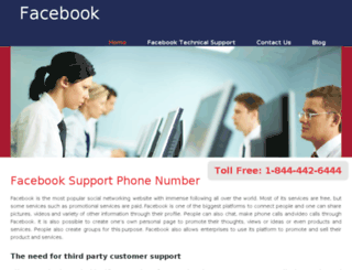 facebooksupportphonenumber.com screenshot