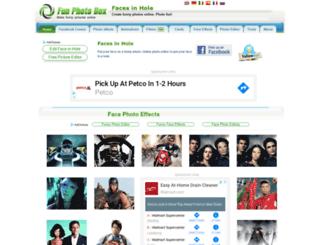 faceeffectsinhole.funphotobox.com screenshot