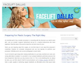 faceliftdallas1.com screenshot