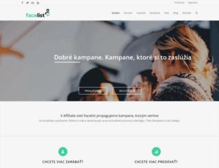 facelist.sk screenshot