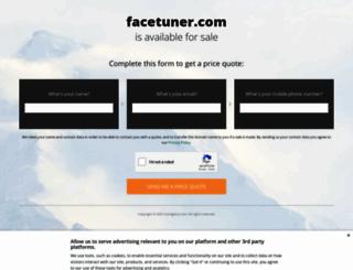 facetuner.com screenshot