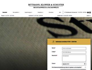 fachanwalt-bittmann.de screenshot