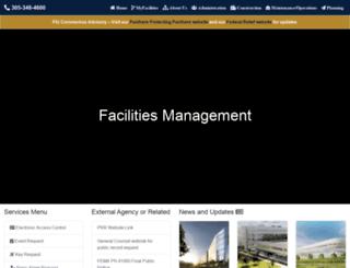 facilities.fiu.edu screenshot