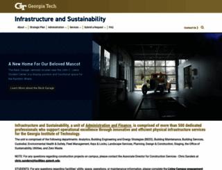 facilities.gatech.edu screenshot