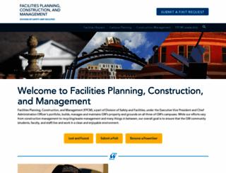 facilities.gwu.edu screenshot