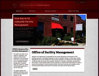 facilities.louisiana.edu screenshot