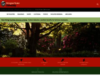 facilities.oregonstate.edu screenshot