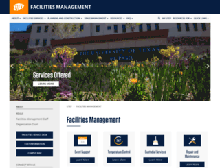 facilities.utep.edu screenshot