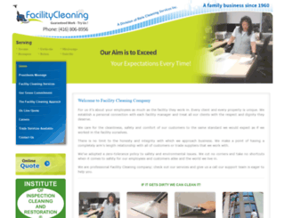 facilitycleaning.ca screenshot
