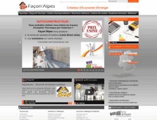 faconalpes.fr screenshot
