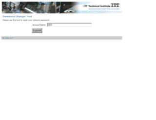 facpwdchange.itt-tech.edu screenshot
