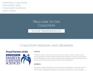 facsecoalition.org screenshot