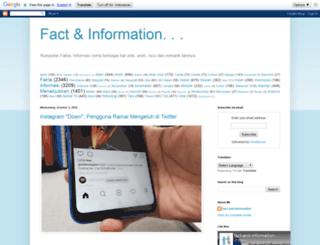 fact-and-information.blogspot.com screenshot