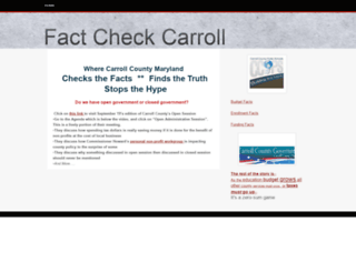 factcheckcarroll.webs.com screenshot