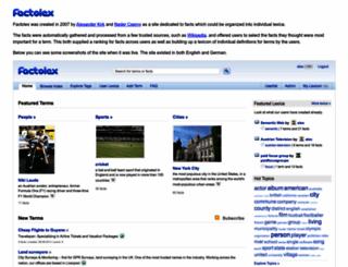 factolex.com screenshot