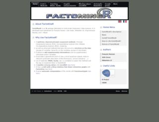 factominer.free.fr screenshot