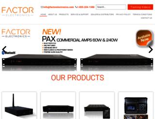 factorelectronics.com screenshot