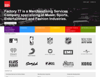 factory77.com screenshot