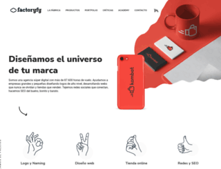 factoryfy.es screenshot