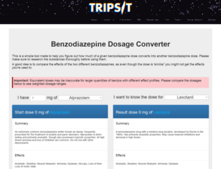 factsheet.tripsit.me screenshot