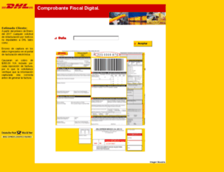 facturacionelectronicadhl.com screenshot