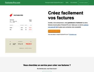 factures-pro.com screenshot