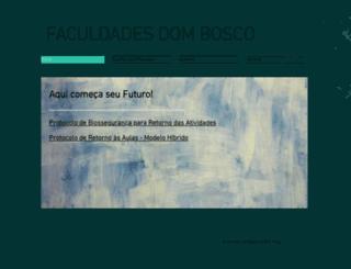 faculdadesdombosco.edu.br screenshot