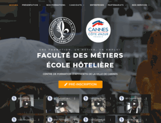 facultedesmetiers.cannes.com screenshot