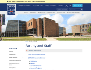 faculty.camdencc.edu screenshot