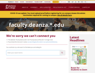 faculty.deanza.edu screenshot
