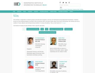 faculty.iiitd.ac.in screenshot