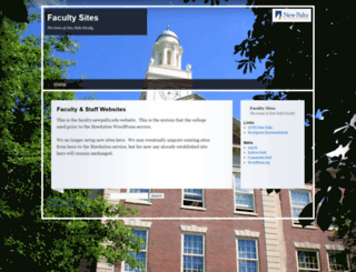 faculty.newpaltz.edu screenshot