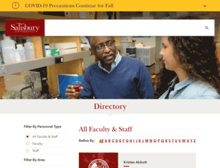 faculty.salisbury.edu screenshot