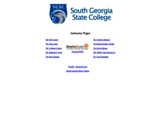 faculty.sgsc.edu screenshot