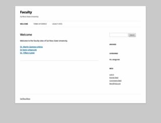 faculty.sulross.edu screenshot