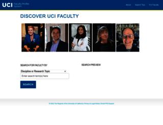 faculty.uci.edu screenshot