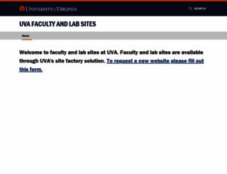 faculty.virginia.edu screenshot
