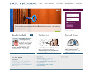 facultyecommons.com screenshot