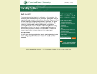 facultyprofile.csuohio.edu screenshot