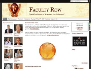 facultyrow.com screenshot