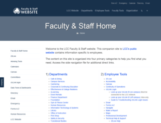 facultystaff.lowercolumbia.edu screenshot