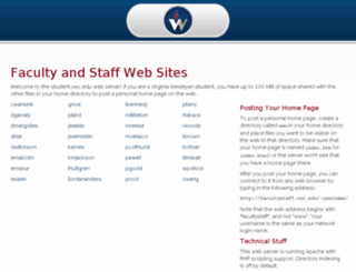 facultystaff.vwc.edu screenshot